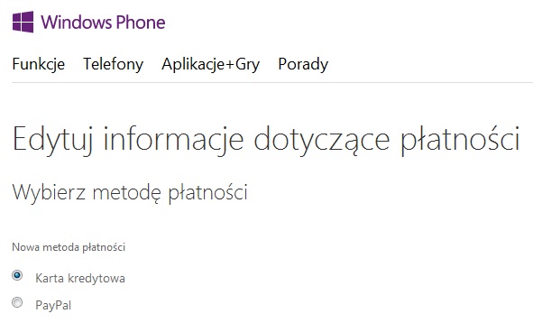 Sklep Windows Phone - PayPal dla Windows Phone 8