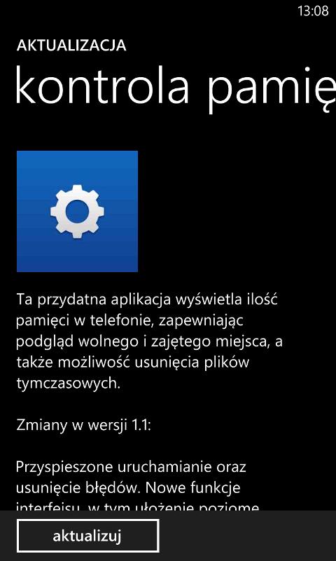 Aktualizacja kontrola pamięci 1.1.7.6