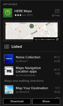 App Highlights Social - Nokia Lumia Windows Phone 8