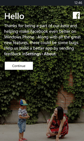 Facebook 5.0.1.0 beta Windows Phone 8