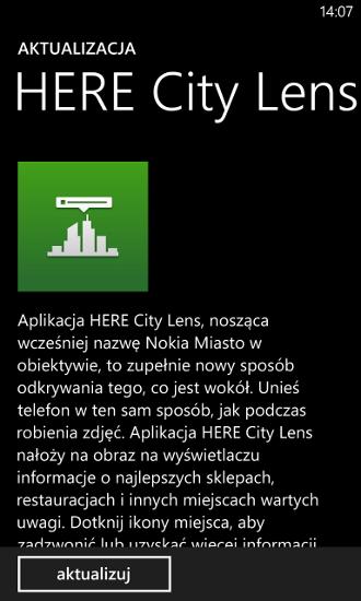 HERE City Lens - Windows Phone 8
