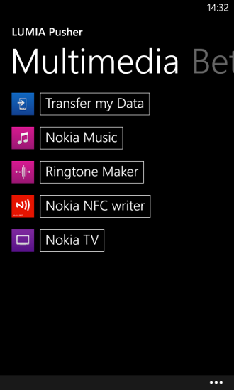 LUMIA pusher - multimedia