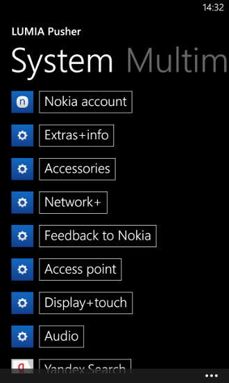 LUMIA pusher - system