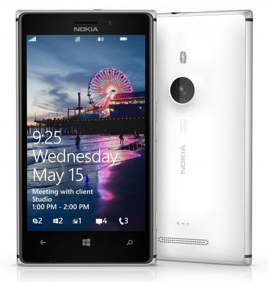 Nokia Lumia 925 - przód i tył telefonu