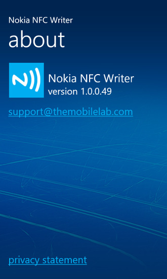Nokia NFC Writer 1.0.0.49 - Nokia Lumia Windows Phone 8