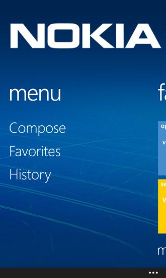 Nokia NFC Writer - menu aplikacji