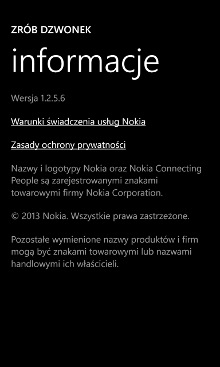 Zrób dzwonek beta - Nokia Lumia Windows Phone 8