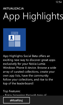 App Highlights Social Beta 1.2.4.0