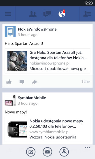 Facebook 5.0.3.0 - Windows Phone