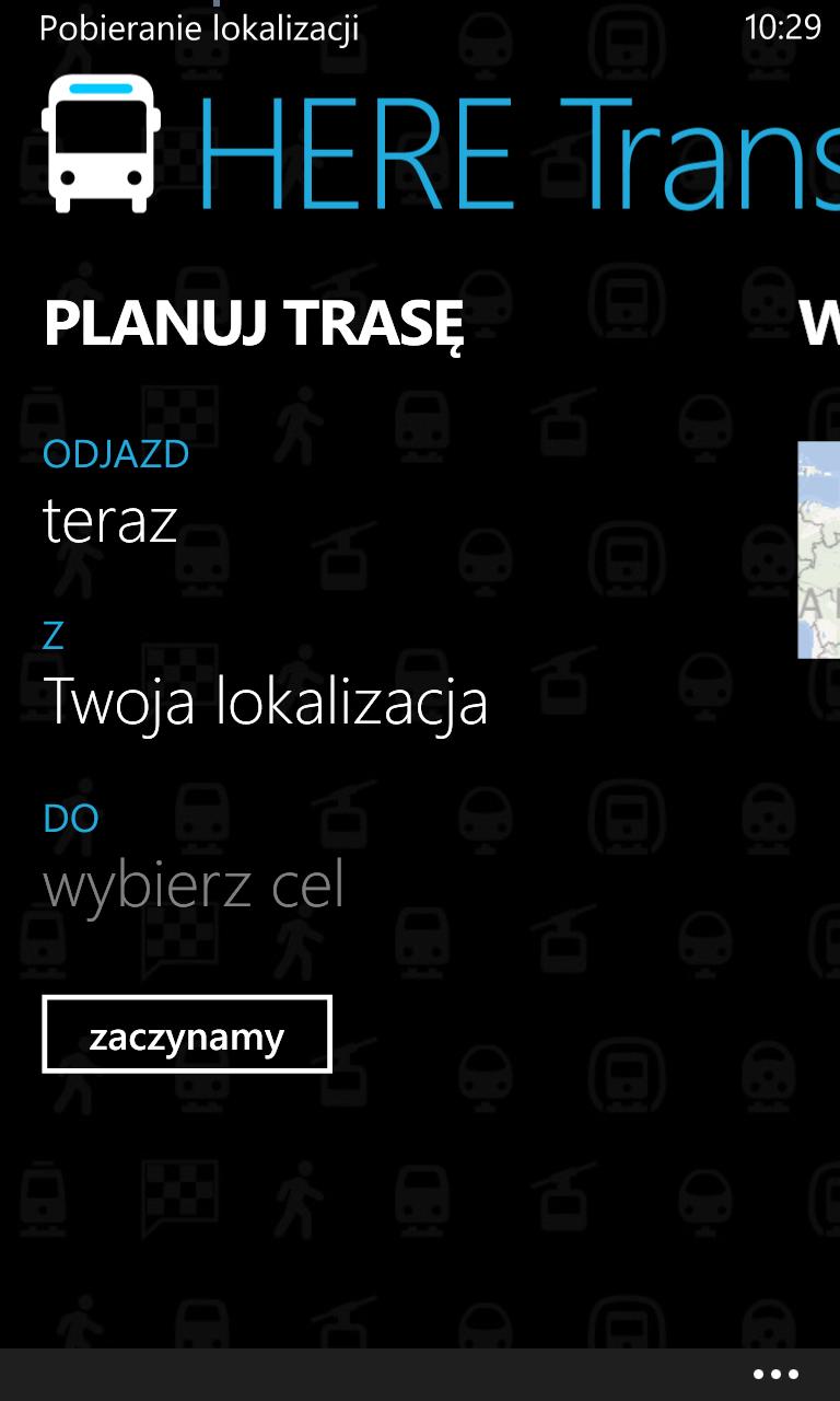 HERE Transit - planuj trasę