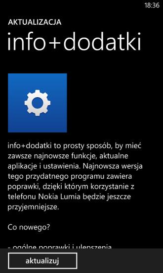 info+dodatki - filtr połączeń i SMS