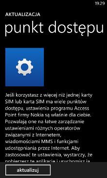 punkt dostępu Nokia Lumia