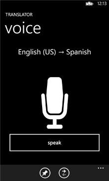 Bing Translator - Windows Phone 8