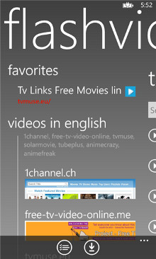 FlashVideo dla Windows Phone