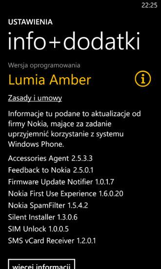 info+dodatki 3.0.6.1 Lumia Amber