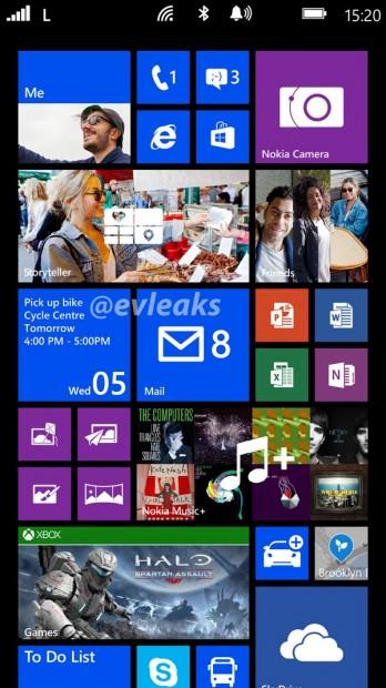 Ekran startowy Nokia Lumia 1520