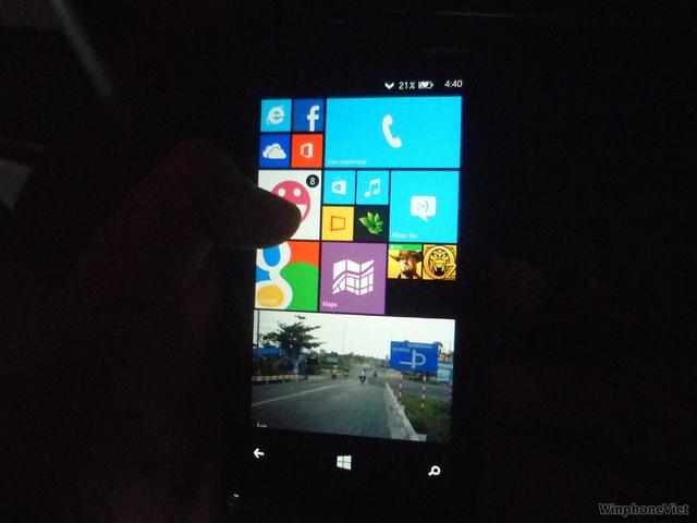 Nokia Lumia 920 Bittersweet shimmer GDR3 - trzy kafelki w jednym rzędzie