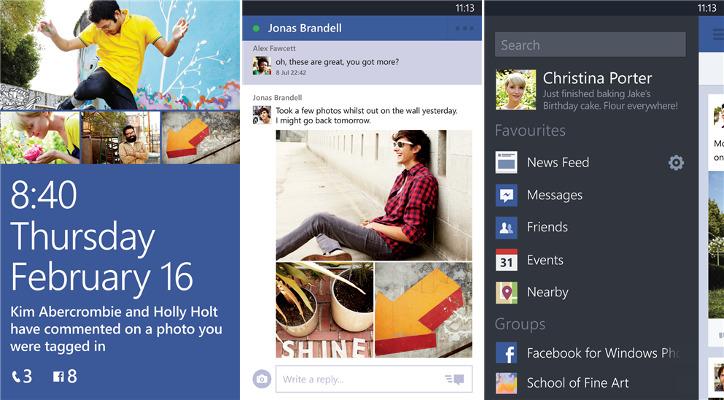 Facebook dla Windows Phone