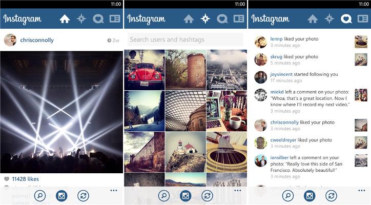 Instagram Windows Phone