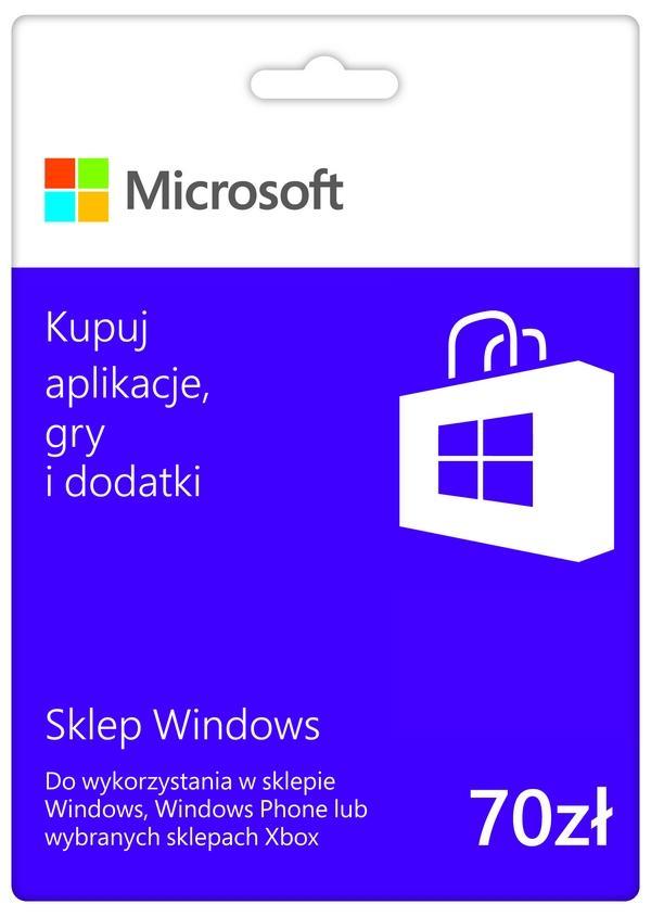 Bon upominkowy Microsoft o wartości 70zł