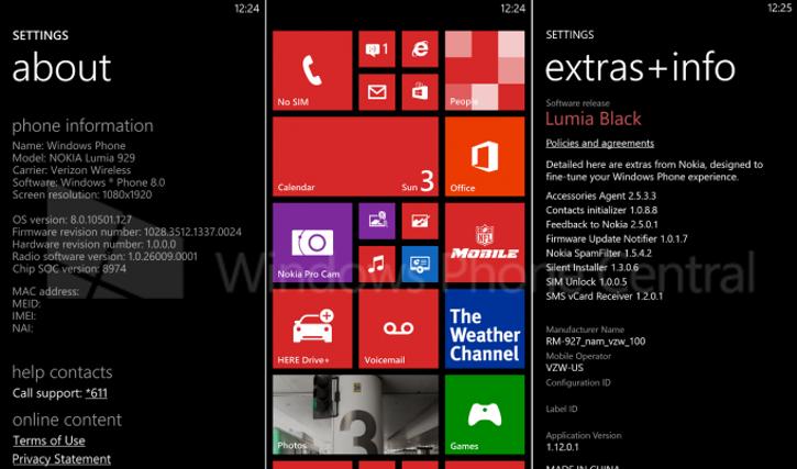 Lumia Black - Nokia Lumia 929
