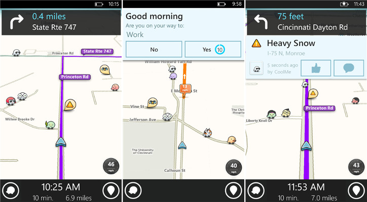 Waze dla Windows Phone