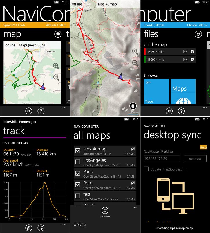 NaviComputer - mapy offline dla Windows Phone