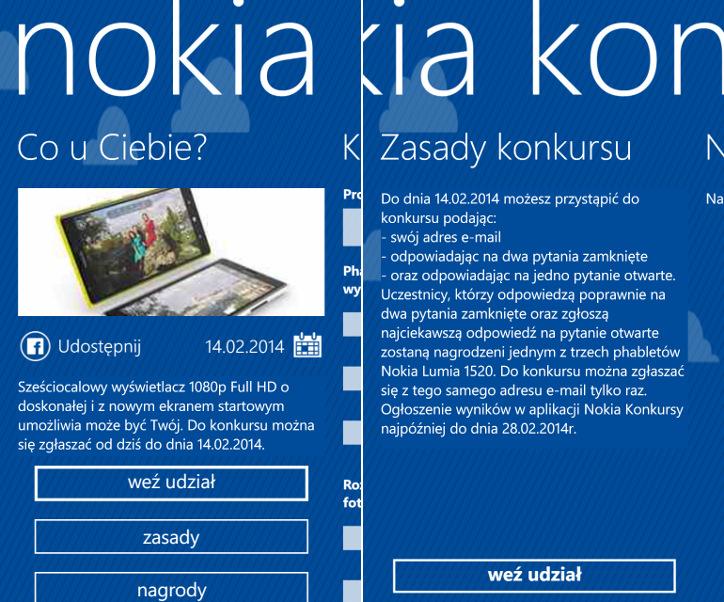 Nokia Konkursy - Nokia Lumia 1520