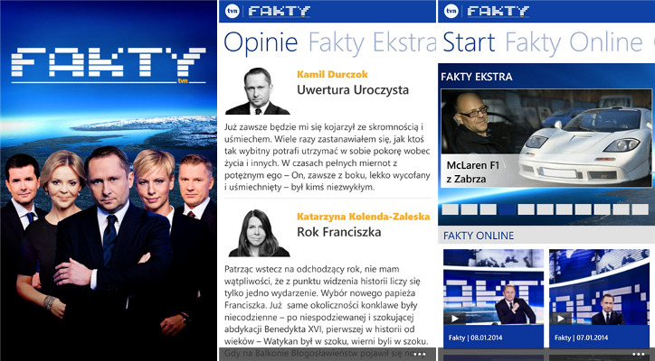 Fakty TVN Windows Phone