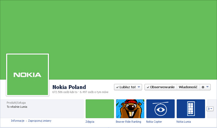 Nokia Facebook Poland