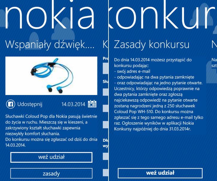 Nokia Konkursy - Nokia Coloud Pop WH-510