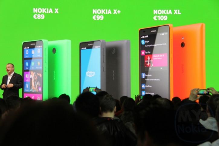 Rodzina telefonów Nokia X z systemem Android