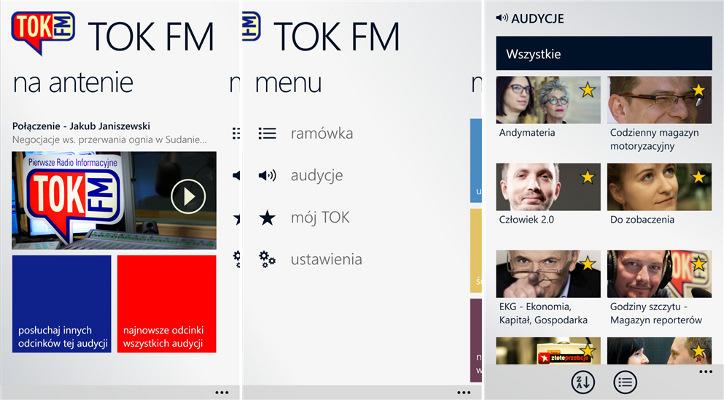 TOK FM dla Windows Phone