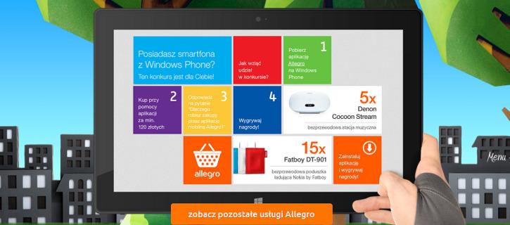 Wygrywaj Nagrody Z Mobilna Aplikacja Allegro Dla Windows Phone Msmobile Pl