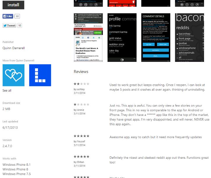 Aplikacja Windows Phone 8.1