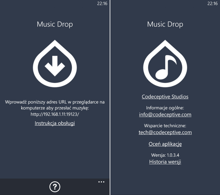 Music Drop Windows Phone