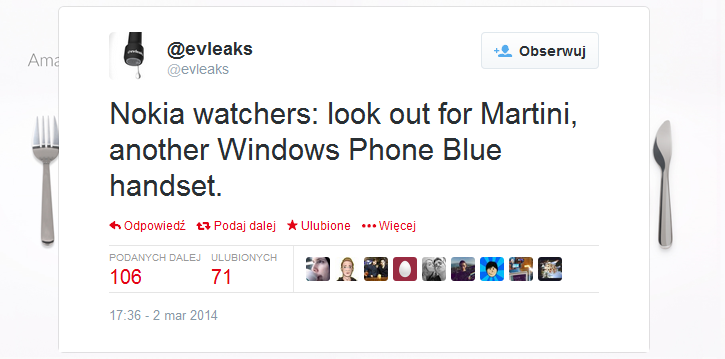 Nokia Martini - Windows Phone 8.1 (Blue)