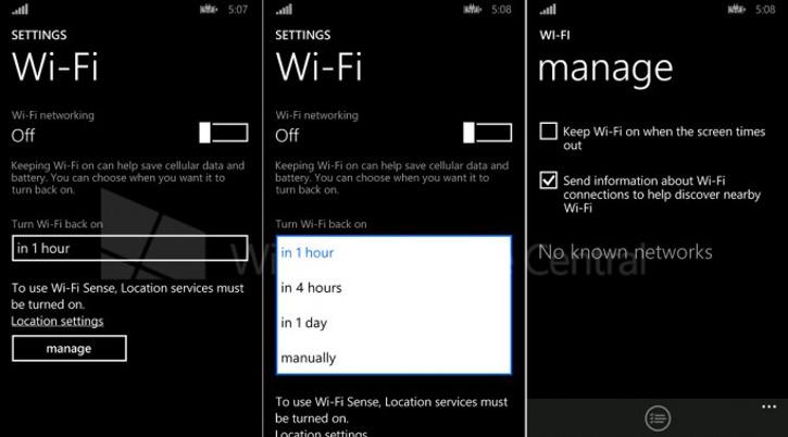 Ustawienia Wi-Fi w Windows Phone 8.1