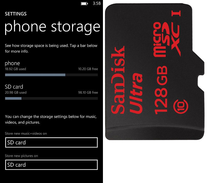Sandisk Ultra microSDXC 128GB dla Windows Phone