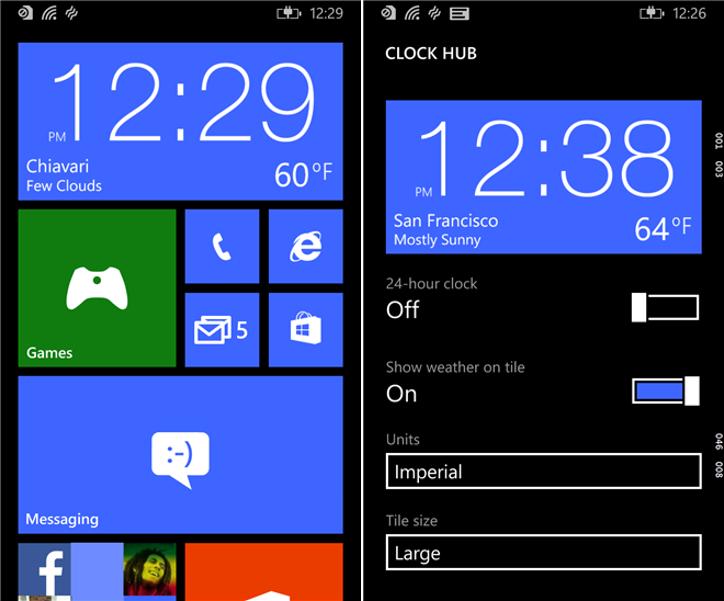 Clock Hub Windows Phone