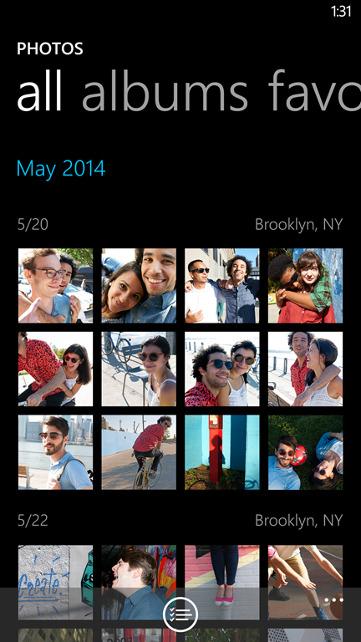 Galeria w Windows Phone 8.1