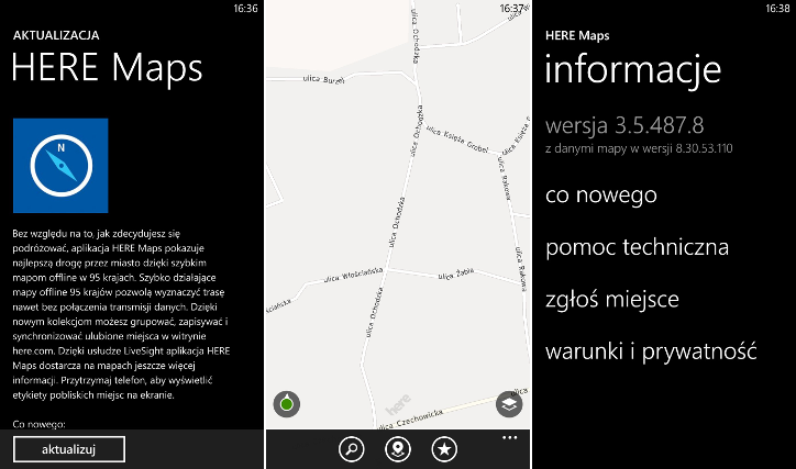HERE Maps 3.5.487.8 dla Windows Phone