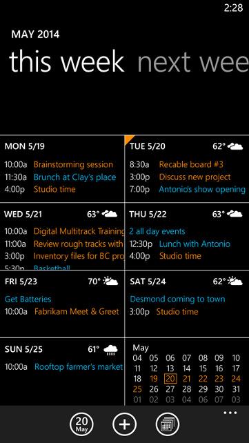 Kalendarz w Windows Phone 8.1