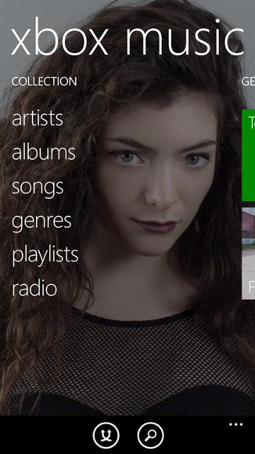 Muzyka w Windows Phone 8.1