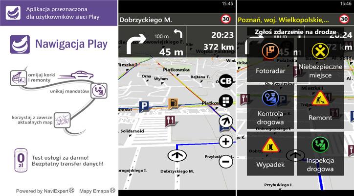 Nawigacja Play dla Windows Phone