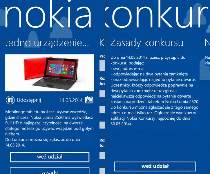 Nokia Konkursy - Nokia Lumia 2520