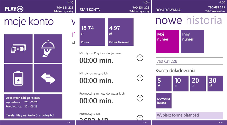 Play24 dla Windows Phone