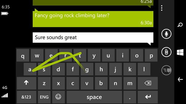 Klawiatura Word Flow w Windows Phone 8.1