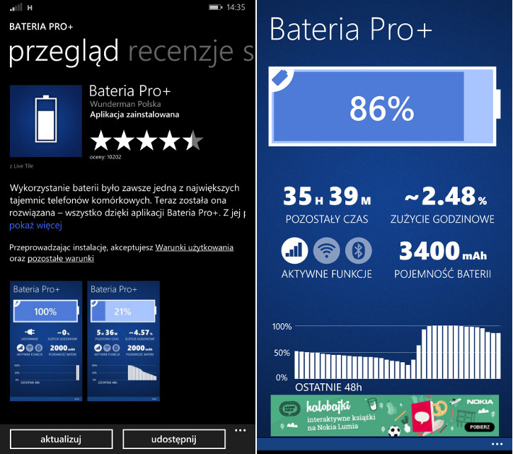 Bateria Pro+ Wunderman Polska dla Windows Phone