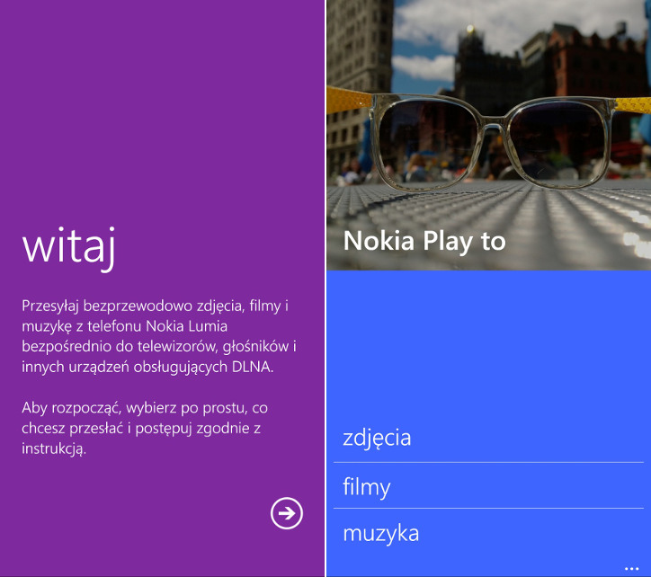Nokia Play to - Nokia Lumia Windows Phone 8.1